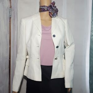 🔱 Calvin Klein White Blazer 🐇 Career Jacket